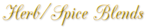 Herb-Spice Blends