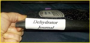 Dehydrator Journal Spine