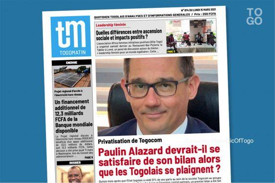 *Republic Of Togo* : Autosatisfaction ?