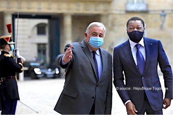 *République Togolaise* : A Paris, le Chef de l'Etat s'est entretenu avec le Président du Sénat français