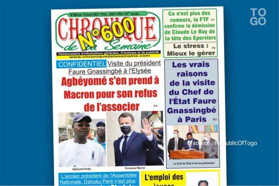 *Republic Of Togo* : Esprits faibles