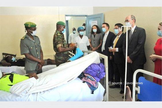 *Savoir News* : Violences pré-électorales au Bénin: Des diplomates au chevet éléments des forces de défense et de sécurité blessés