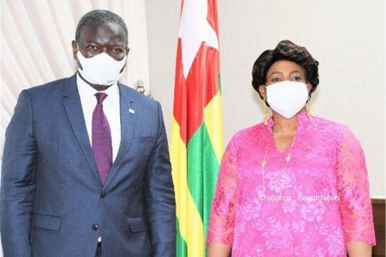 *Savoir News* : Le président de la commission de l'Uémoa reçu par Mme Yawa Djigbodi Tsègan