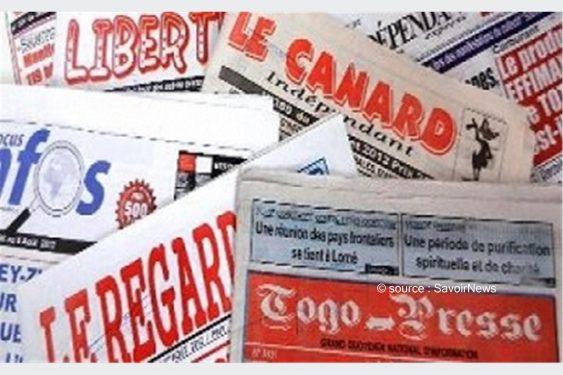 *Savoir News* : Voici les grands titres des journaux privés, en kiosques ce vendredi au Togo