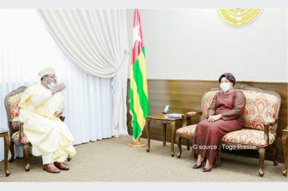*Togo Presse* : L'ambassadeur du Nigeria Adesina Julius Adebowale reçu par la présidente Mme Yawa Djigbodi Tségan