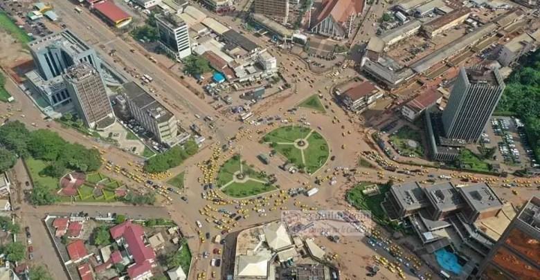 Poste central de Yaoundé vue d'un drône
