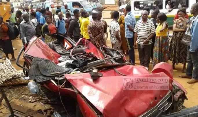 Un accident de la circulation à Ngousso par Yaoundé