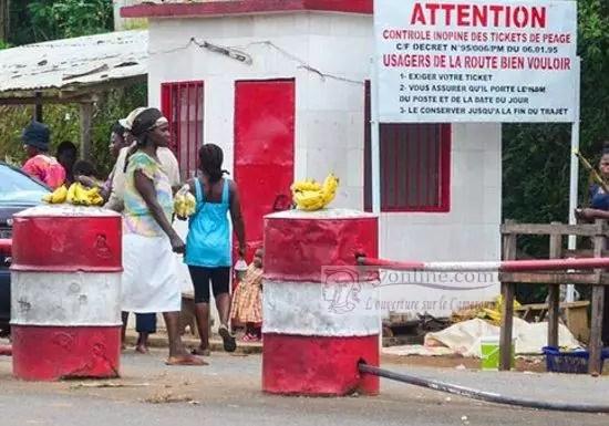 Un poste de Peage routier au Cameroun