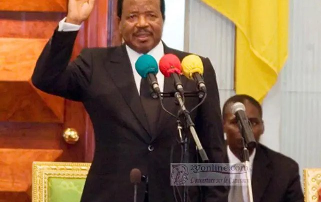 Paul BIYA pretant serment