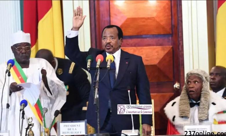 Paul Biya pretant serment