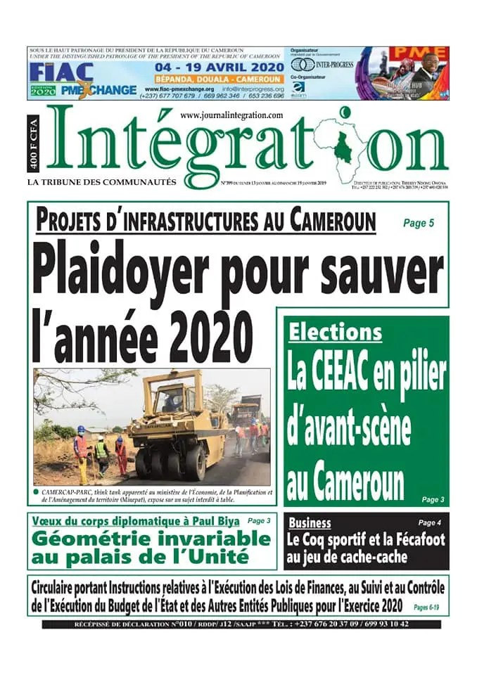 integration du 13 janvier 2020
