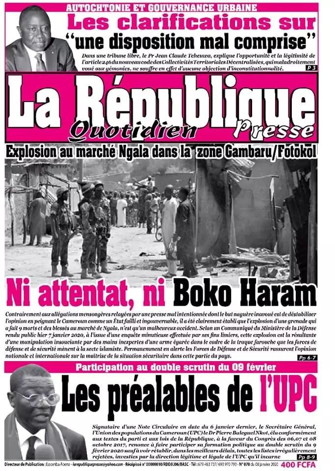 la republique quotidien du 08 janvier 2020