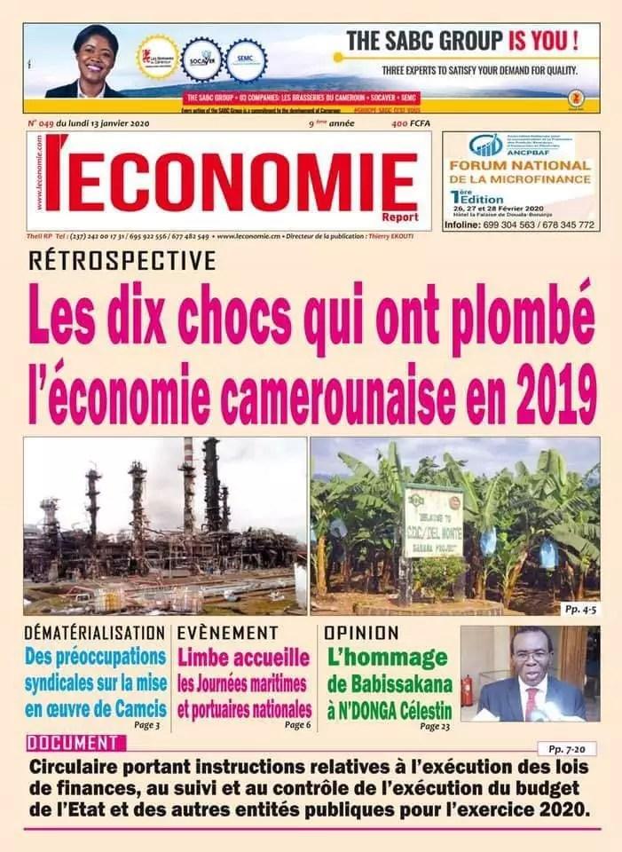 quotidien de leconomie du 13 janvier 2020