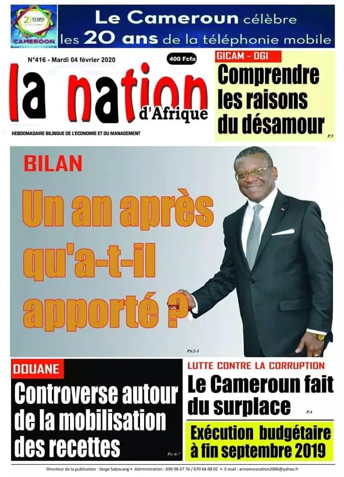 la nation dafrique du 04 fevrier 2020