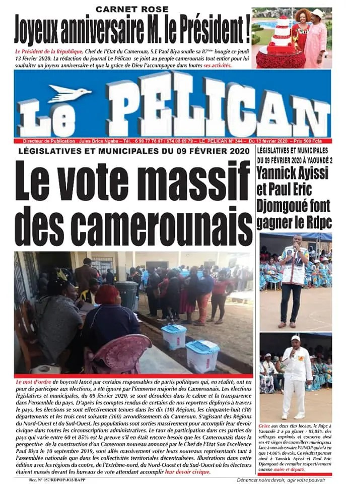 le pelican du 13 fevrier 2020