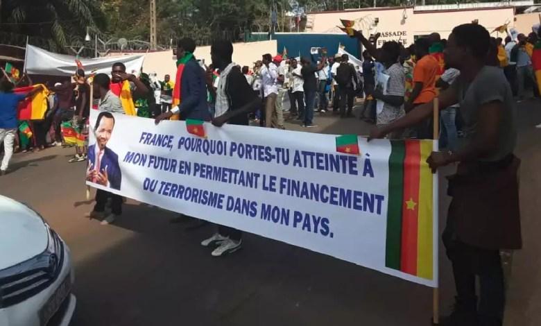 Manifesttaion Anti Macron au Cameroun