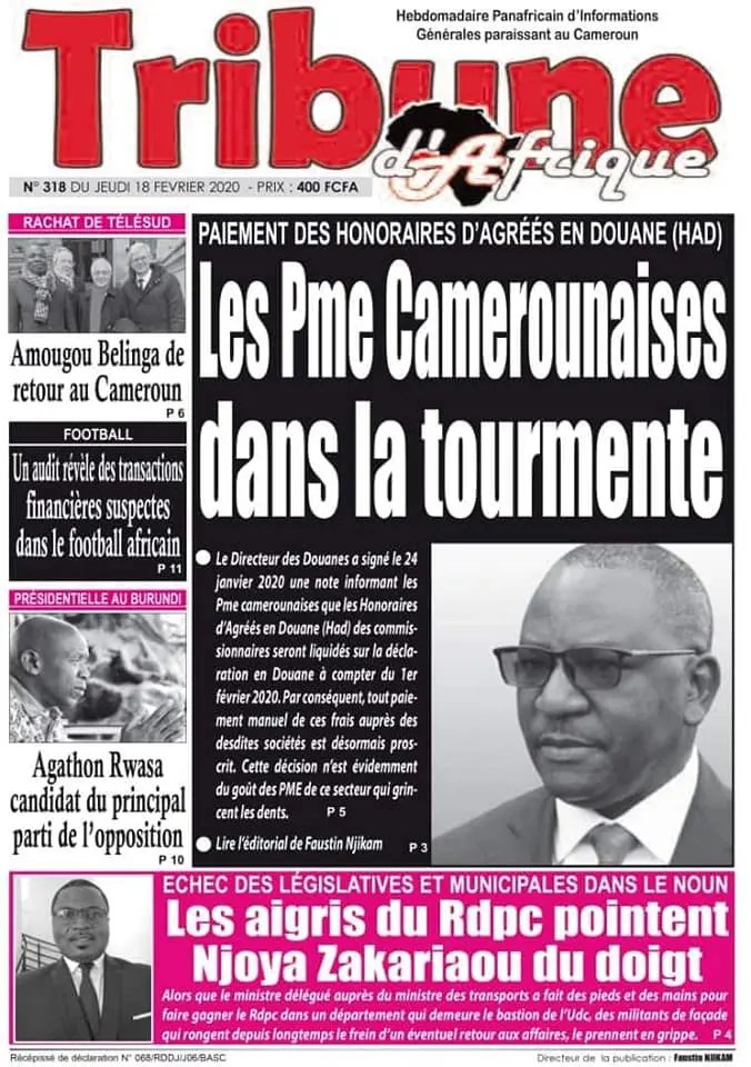 tribune dafrique du 18 fevrier 2020