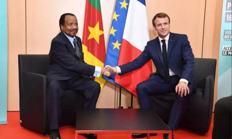 Paul BIYA et Emmanuel Macron