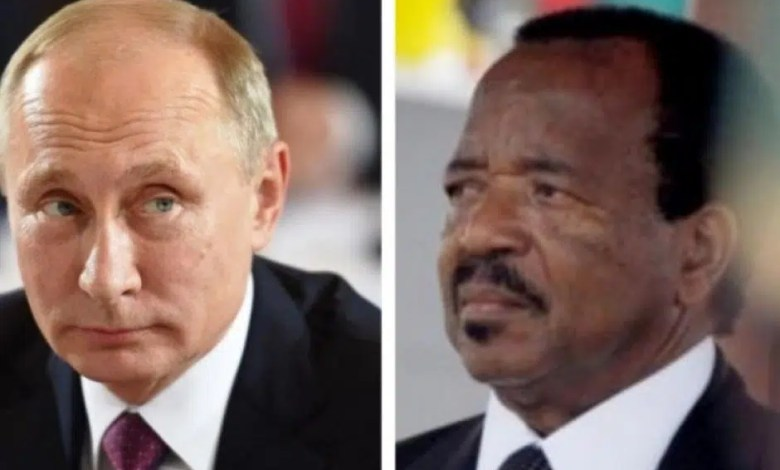 Poutine et le Président Paul BIYA