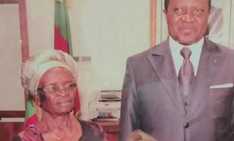 Le ministre Ngalle et sa maman
