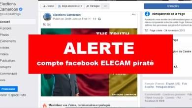 Page facebook de elecam piraté