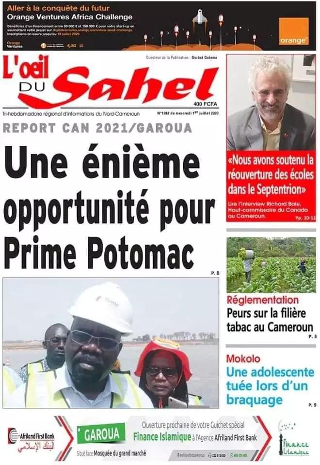 Oeil du Sahel du 01 juillet 2020
