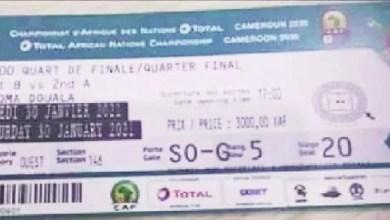 un ticket de Cameroun-Rdc