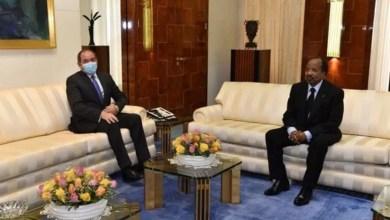 Paul Biya et Sabri Boukadoum