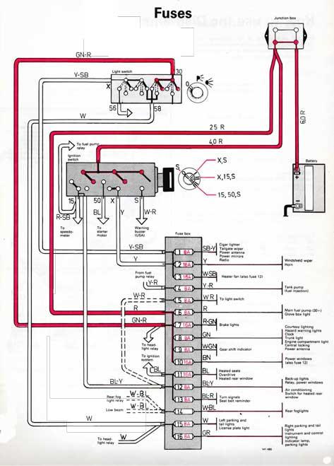 1990 volvo fuse box  schematic wiring diagram ground