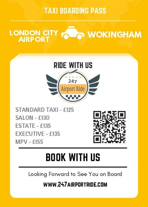 london city airport to wokingham price