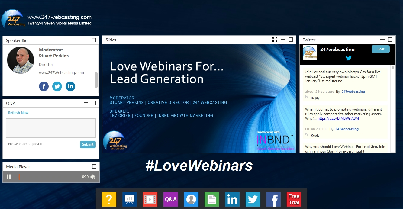 Modern & Engaging Webinar Interface