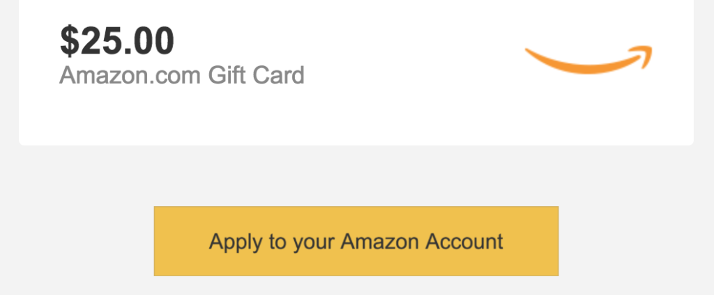 Gift Card Redemption Email