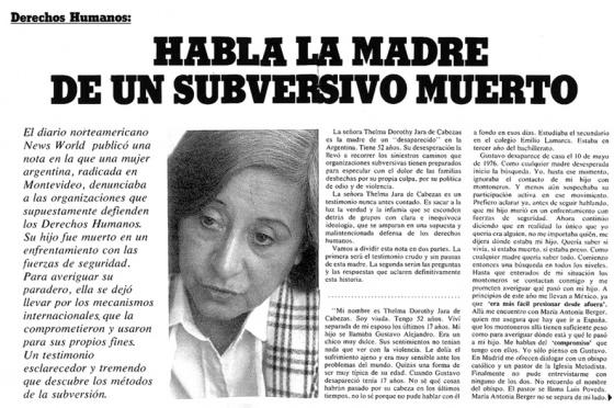 parati habla la madre de un subversivo