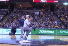 Photo of Fan Hits Half Court Shot for Tater Tots for Life!