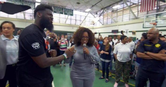 Oprah surprises NJ students with $500K donation, pizza party