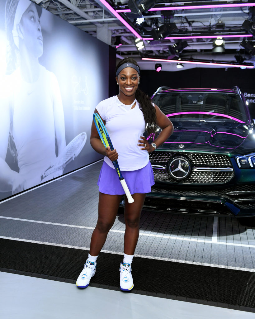 Sloane Stephens takes to the court to encourage teen rising stars ahead of US Open