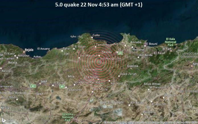 Tremblement de terre de 5,2 degrés près d'El Harrouch à Skikda