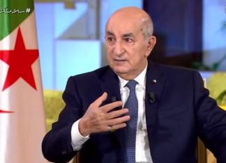 """Tebboune critique un slogan du Hirak: """"l'armée s'est éloignée de la politique"""""""
