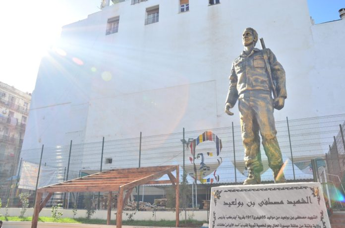 Des bustes en bronze de Larbi Ben M'hidi, Maurice Audin et Krim Belkacem à Alger