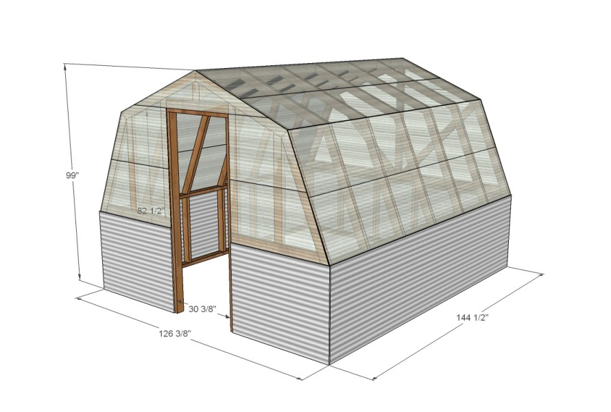 Top 20 Greenhouse Designs and Costs Barn style greenhouse plan