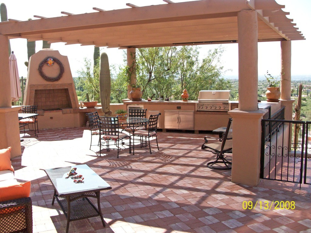 Top 15 Outdoor Kitchen Designs and Their Costs on Mexican Patio Ideas  id=30076