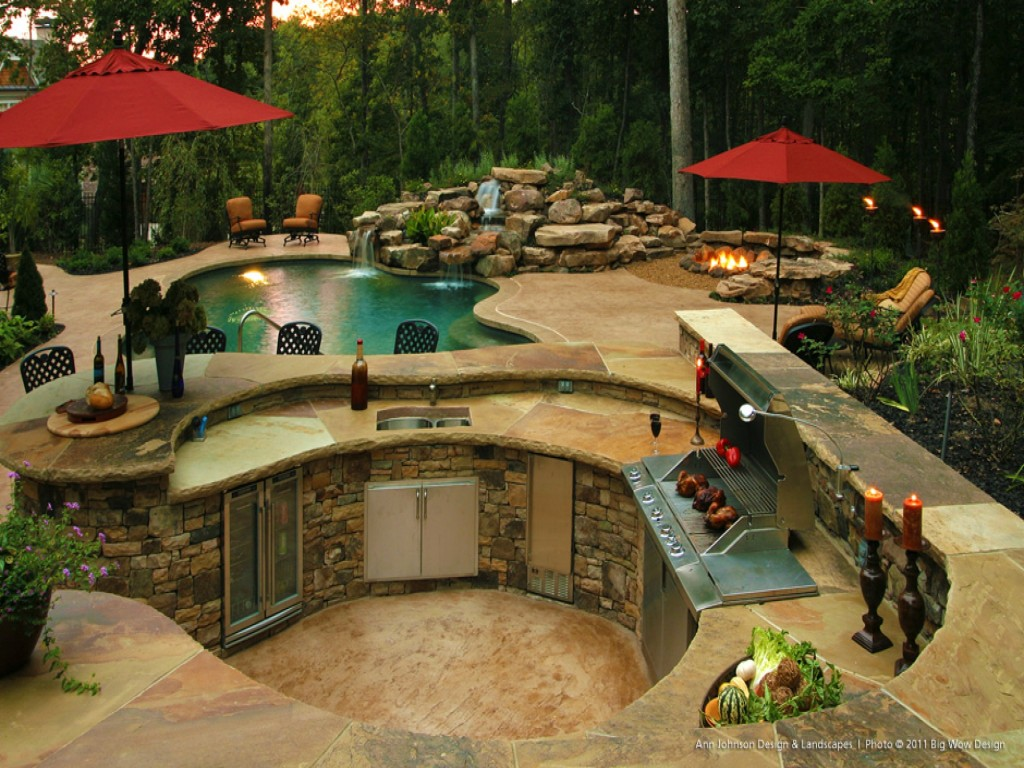 Top 15 Outdoor Kitchen Designs and Their Costs on Outdoor Kitchen By Pool id=35230