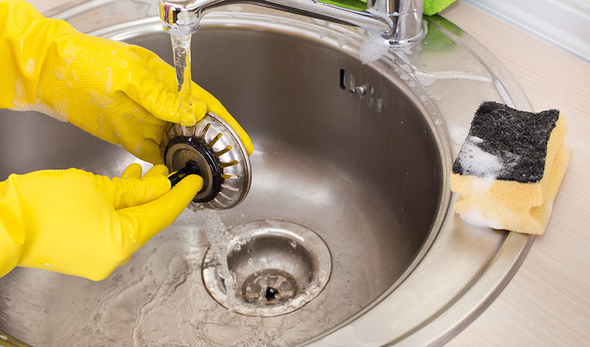 how to unclog your kitchen sink 8