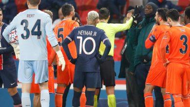 صورة انسحاب نادي إسطنبول باشاكشهير من مباراته ضد باريس سان جيرمان