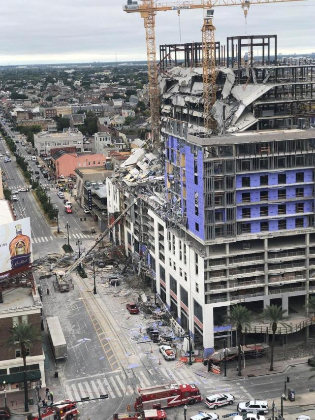 Damage is seen after a portion of a Hard Rock Hotel under construction collapsed in New Orleans, Louisiana | Autor: SOCIAL MEDIA/REUTERS/PIXSELL/REUTERS/PIXSELL