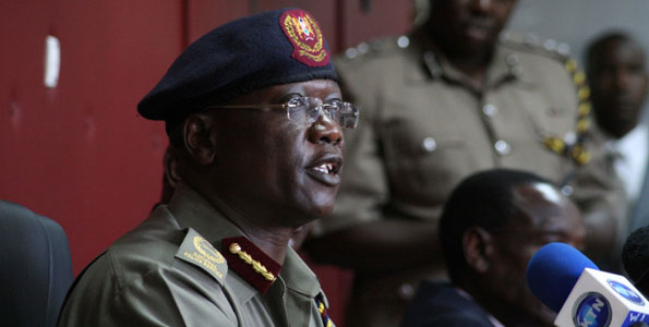 Inspector General David Kimaiyo speaks during a press conference in Nairobi March 5, 2013.