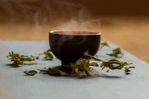 A bowl of hot tea