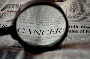 newspaper clipping of cancer