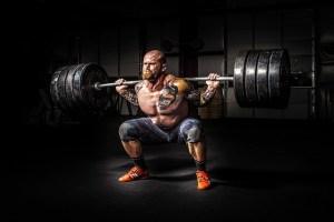 strong man with denser bones