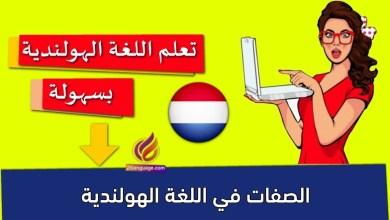 الصفات في اللغة الهولندية